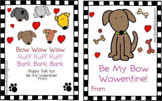 Valentine Printable Dog Puppy Valentines