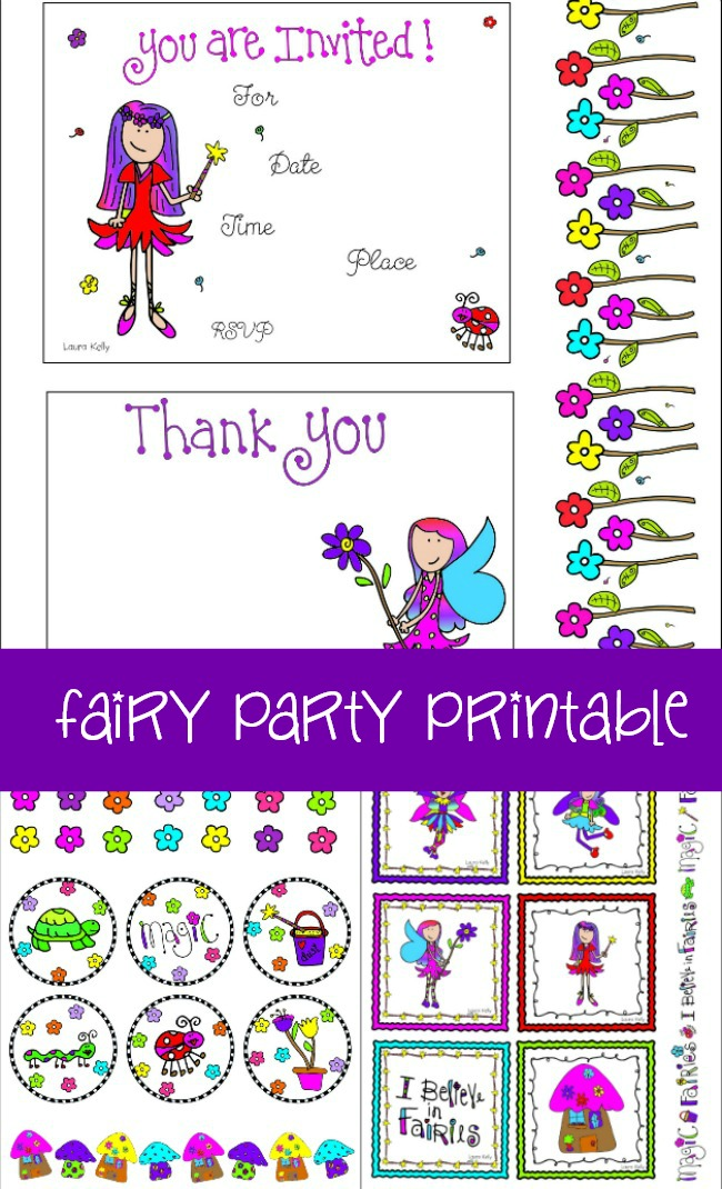 FAIRY PARTY Printable Party Decorations Laura Kelly Designs