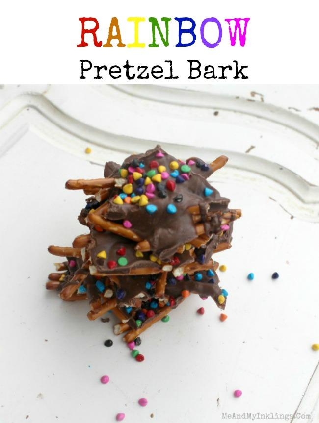 Rainbow Pretzel Bark