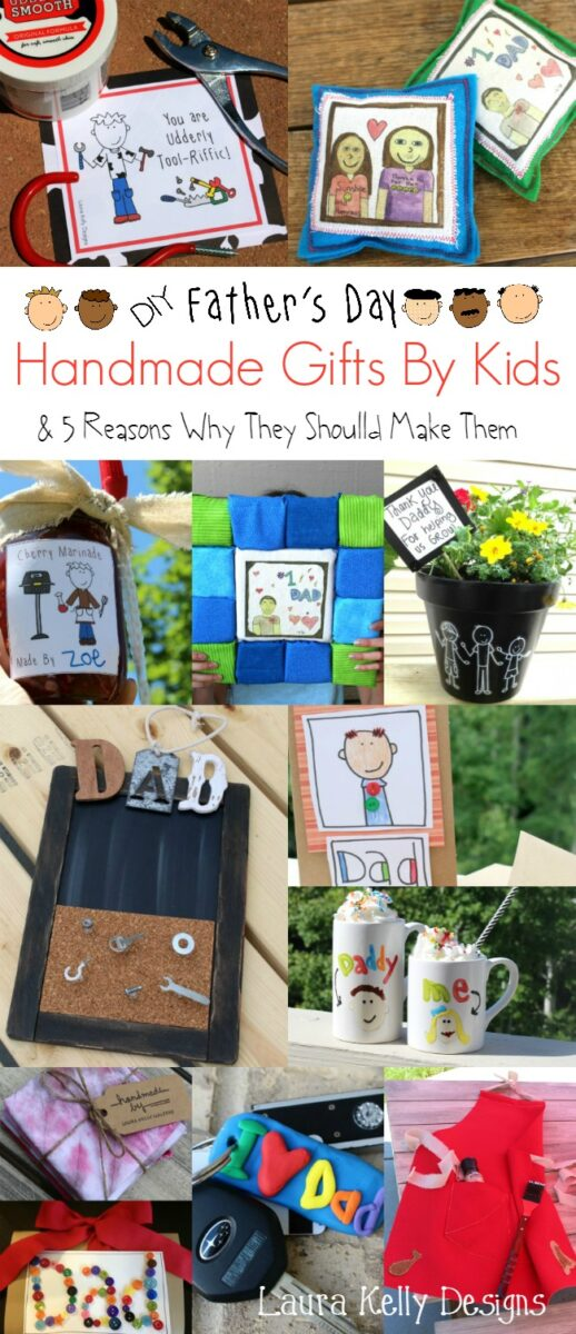 Handmade Father's Day Gift Ideas for Kids #fathersday #kidcrafts #diygifts