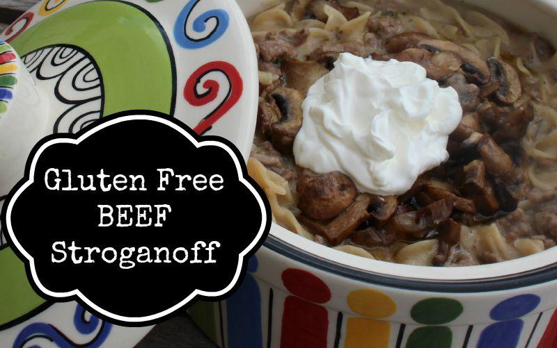 Gluten Free Beef Stroganoff with Mushrooms