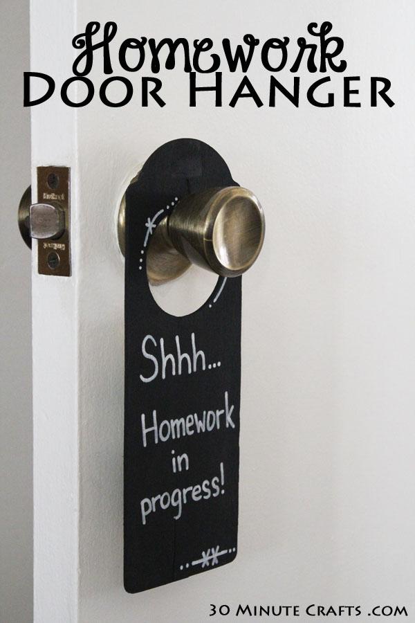 Homework-Door-Hanger