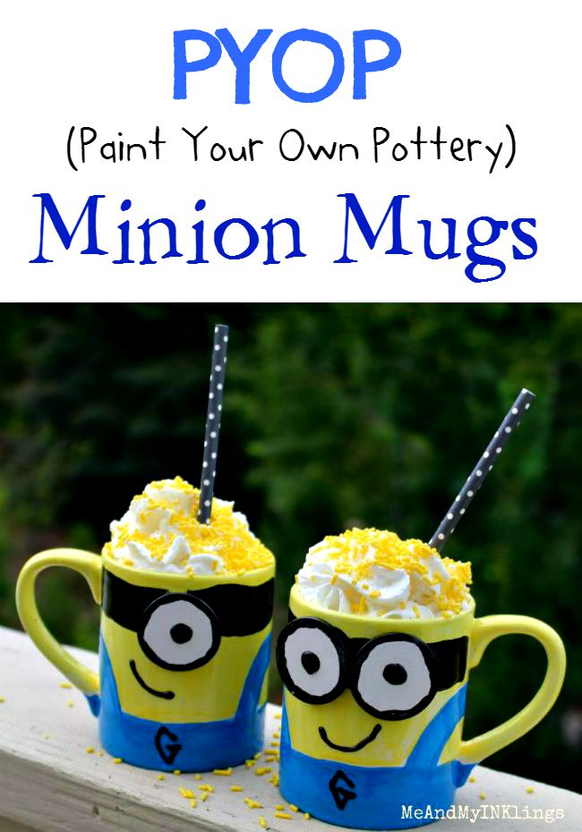 Minion Mug Paint your own Pottery PYOP