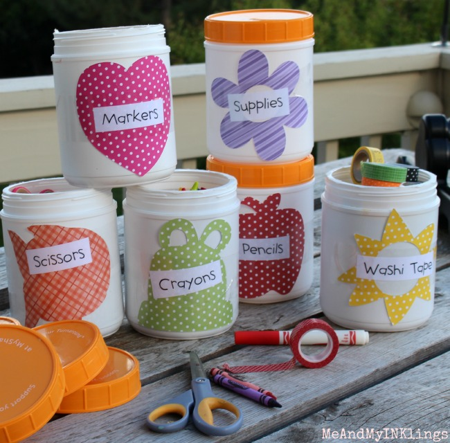 DIY School Supply Containers