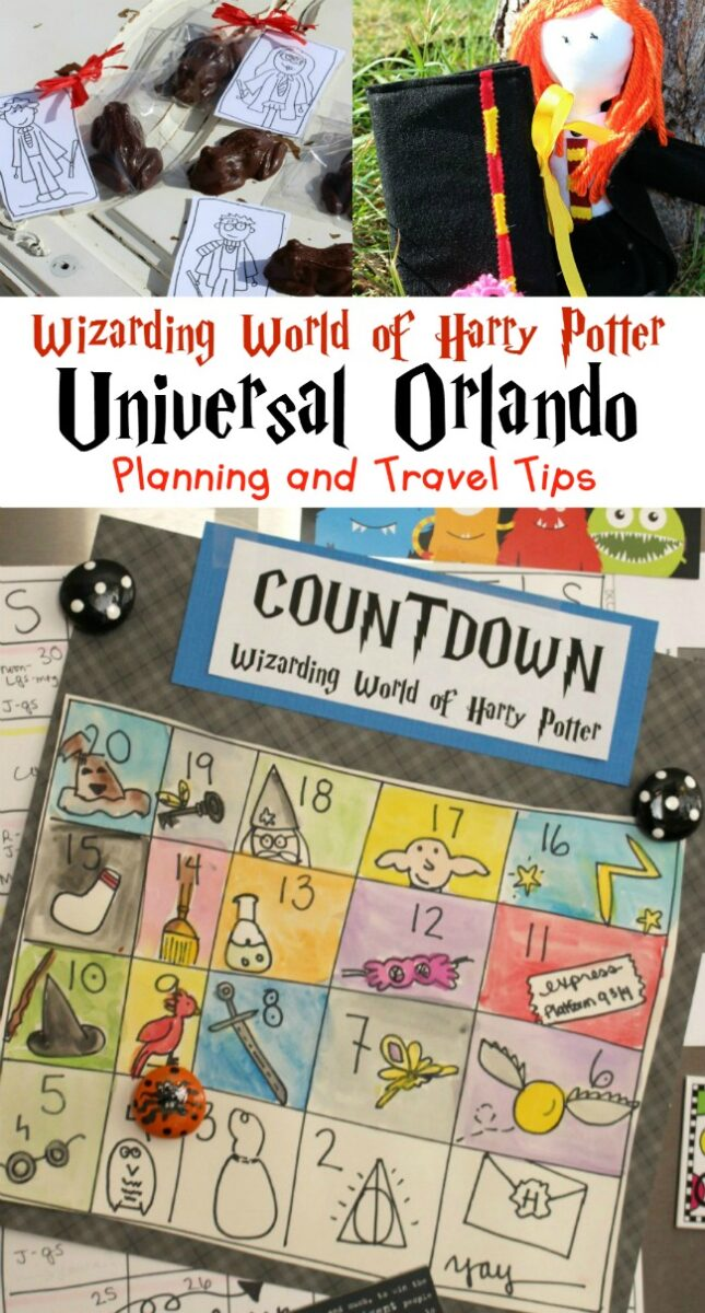 Harry Potter Printable Travel Tips Countdown Activity Kids