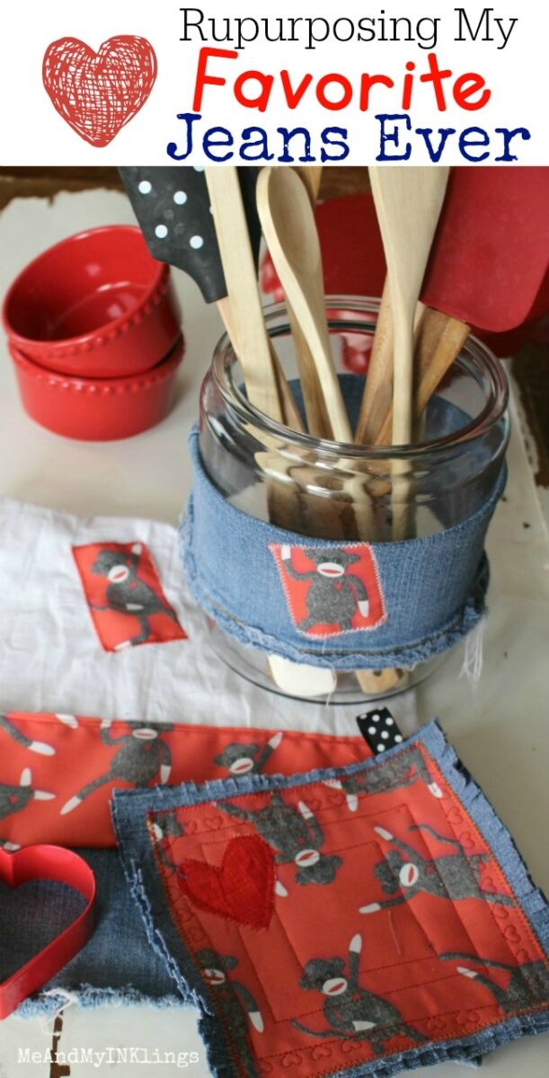 Repurpose Denim Jeans Craft Project Recycled Jeans Pants