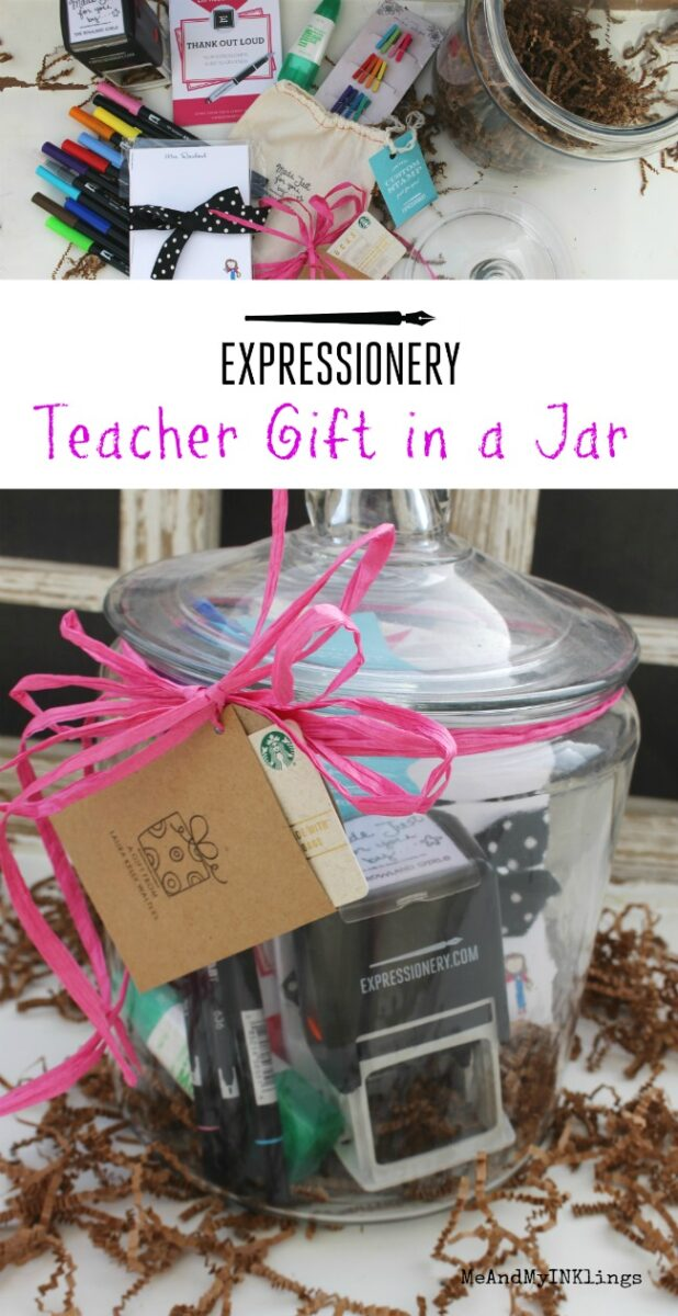 Expressionery Teacher Gift in a Jar