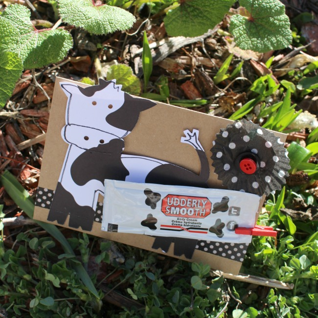 Udderly SMooth PaperCraft Card From Rina Kit