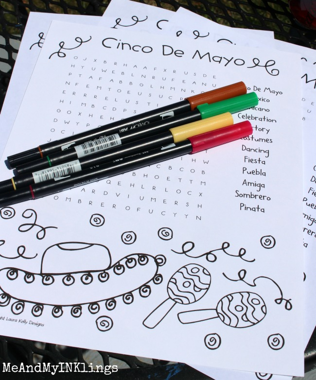 Cinco De Mayo Printable for Parties by Laura Kelly WordSearch