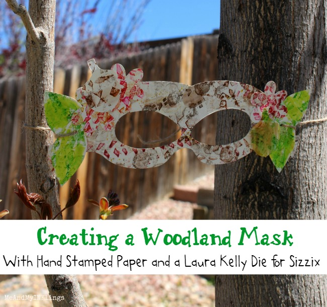 Sizzix Forest Mask with Stampendous and Tombow
