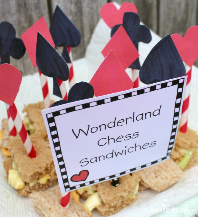 Wonderland Chess Sandwiches