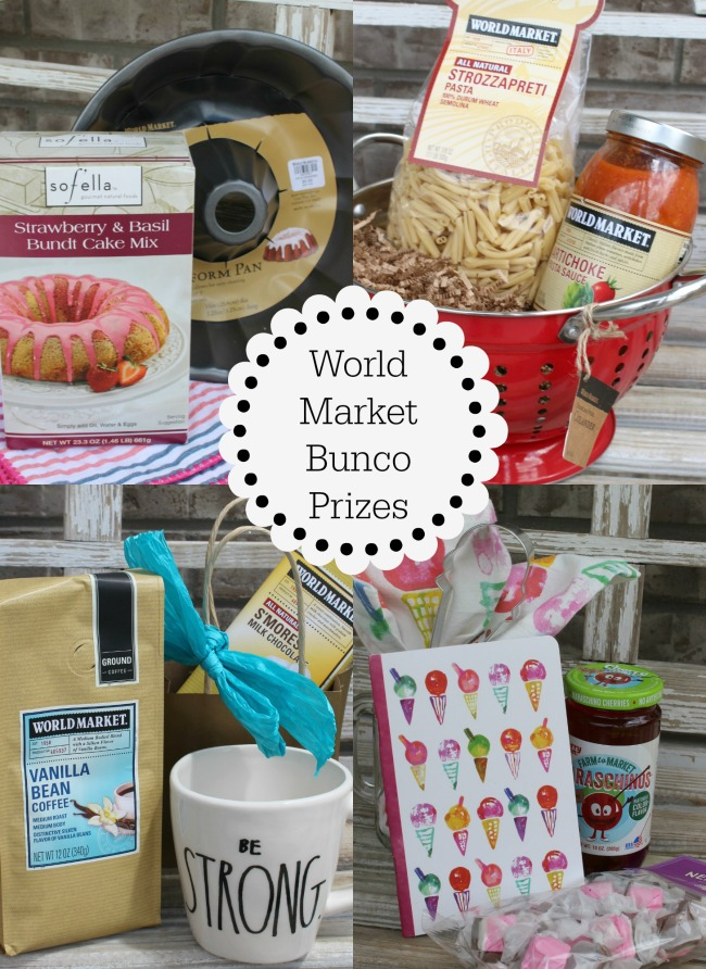 World Market Bunco Prizes