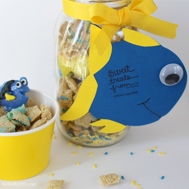 Finding Dory Expressionery Stamp Tag for Snack Mix