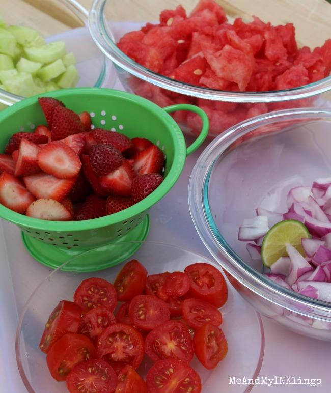 Fruits and Veggies Chopped