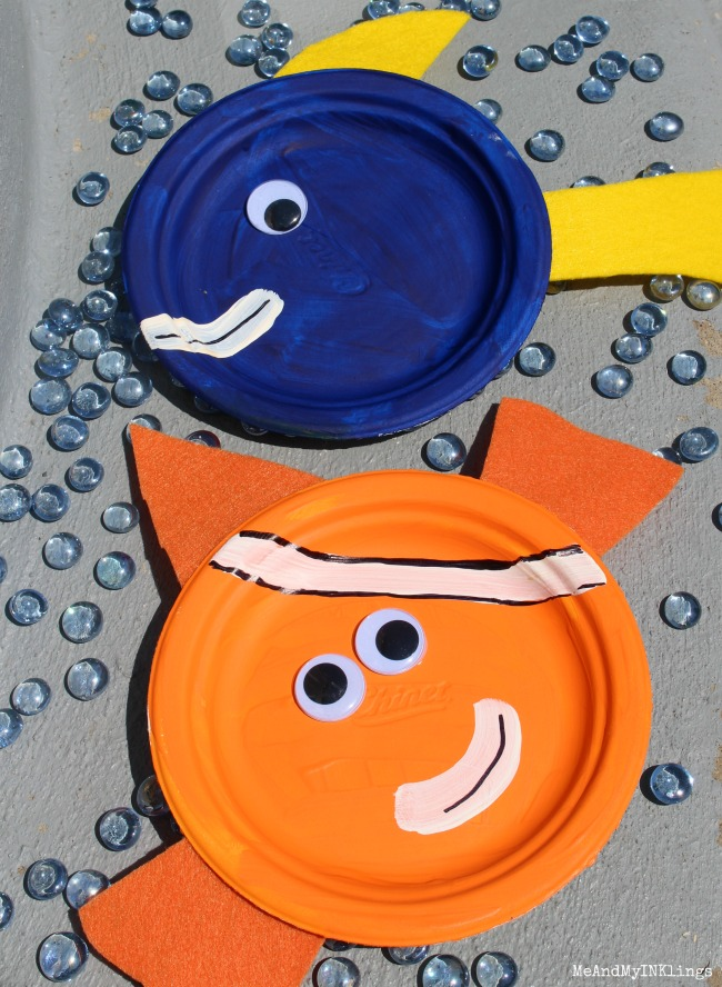 Paper Plate Finding Dory and Nemo Craft