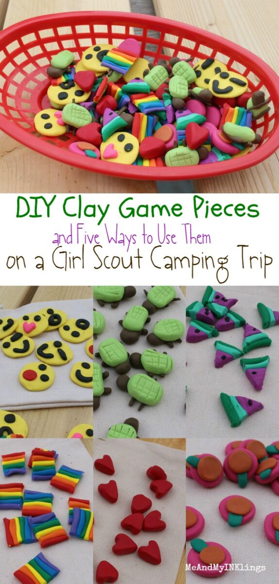 DIY Clay Game Pieces for Scout Camping Games