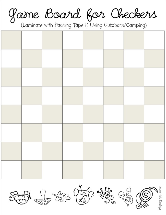 Game Board Checkers Printable