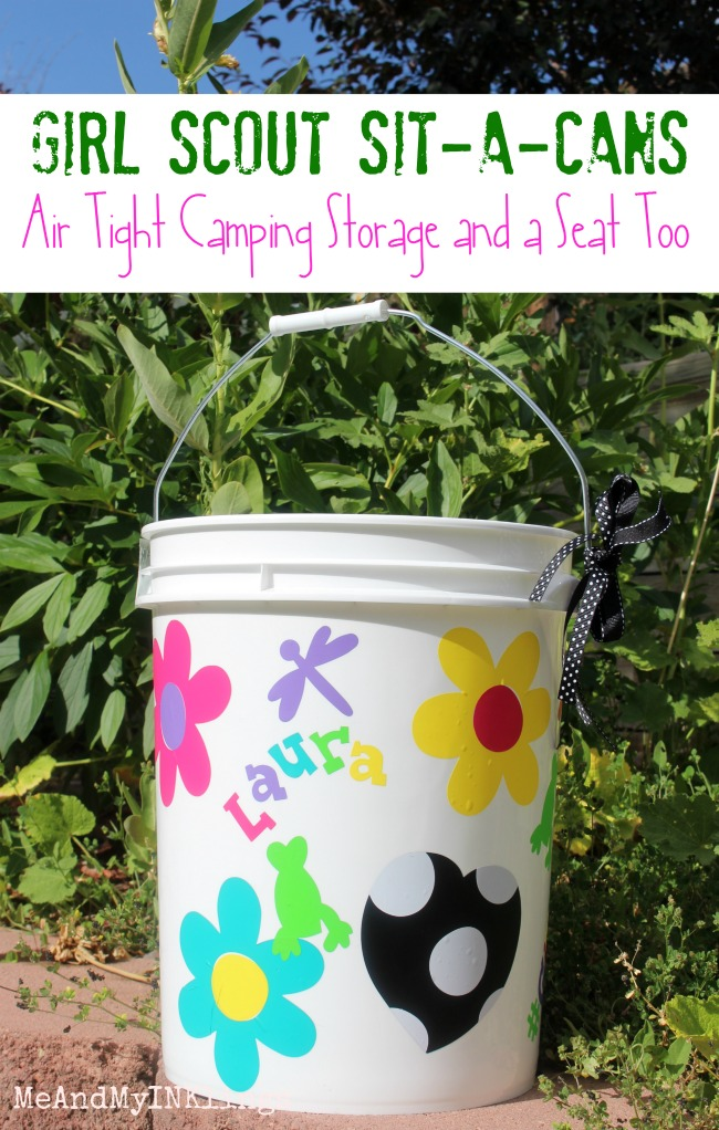 Girl Scout Sit-A-Cans for Camping