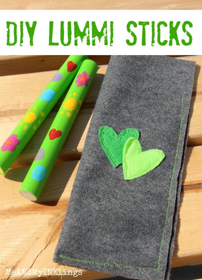 Lummi Sticks with Felt Bag