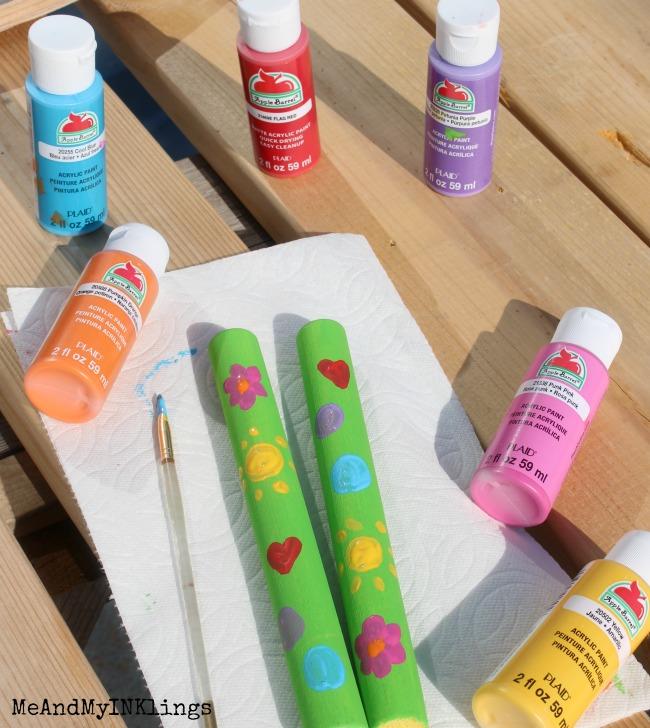 Plaid Apple Barrel Paints for Lummi Sticks