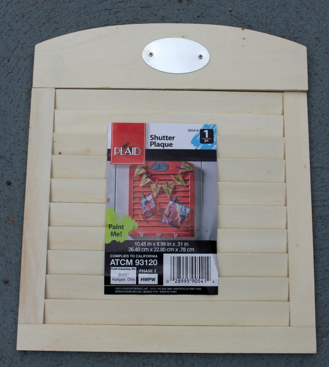 Plaid Shutter Plaque