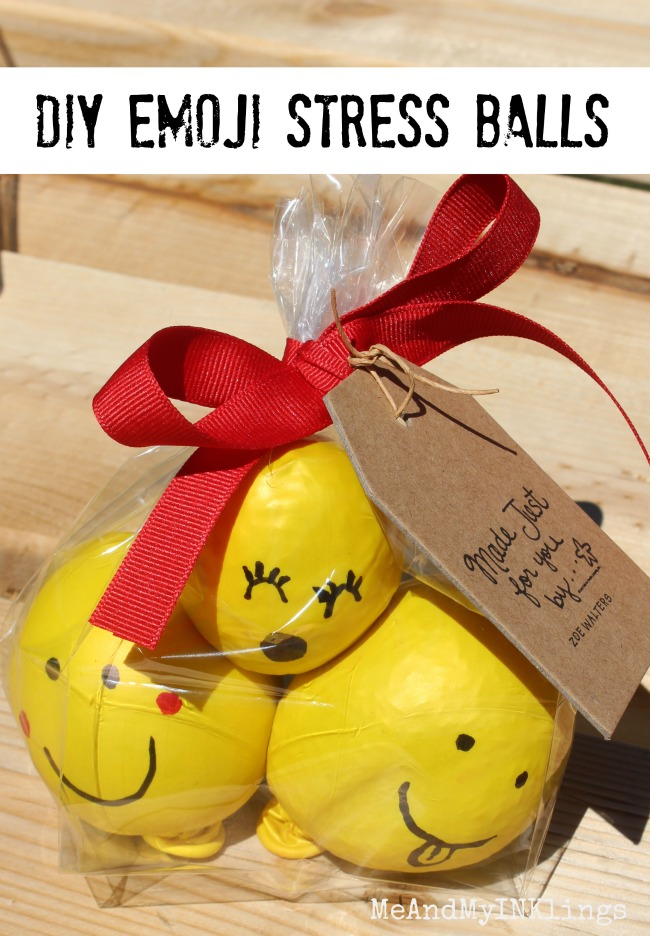 DIY Stress Balls with Rice and Balloons Decorated Like Emojis