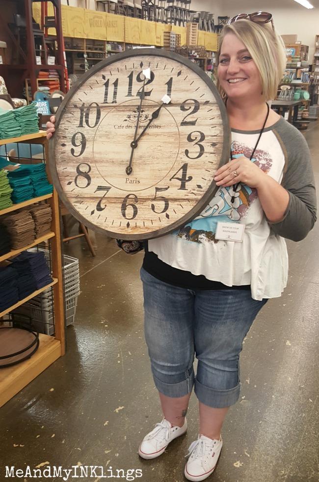 World Market Laura Clock