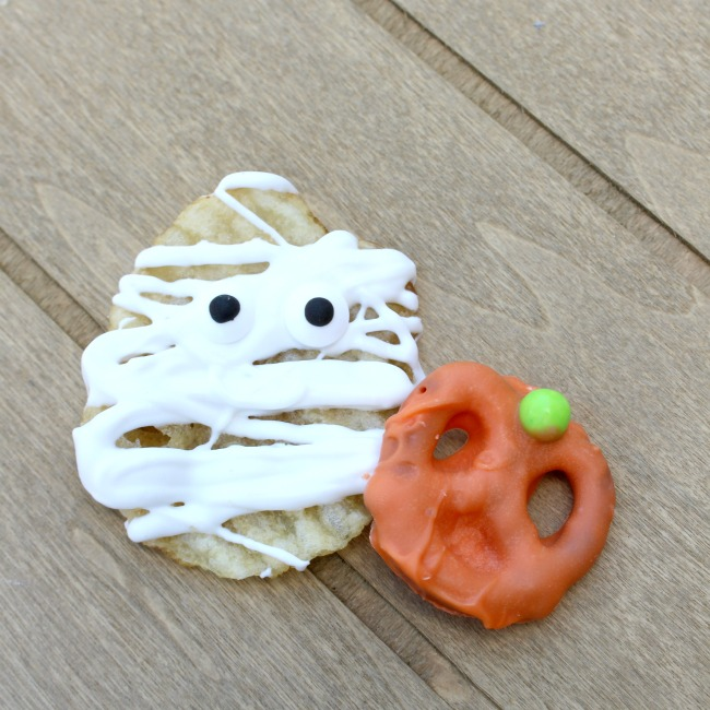 Candy Coated Mummy and Pumpkin