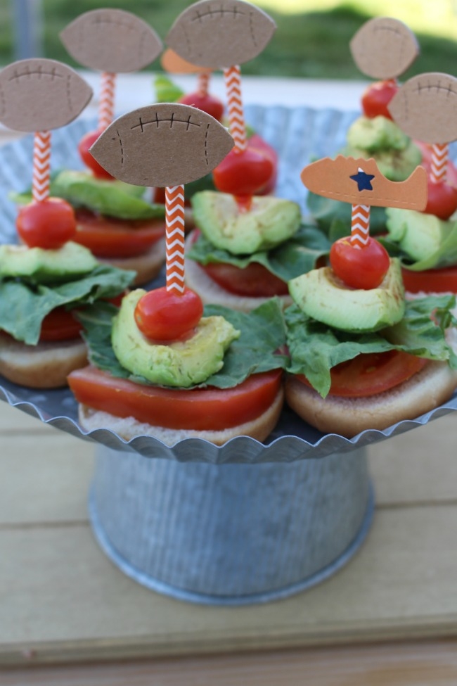 Healthy Veggie Sliders Game Day Greats Wm Tray