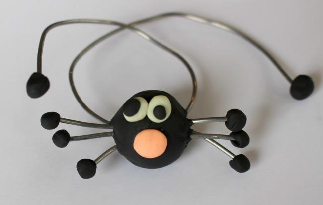 Spider Body Sculpey Clay Eyes Mouth