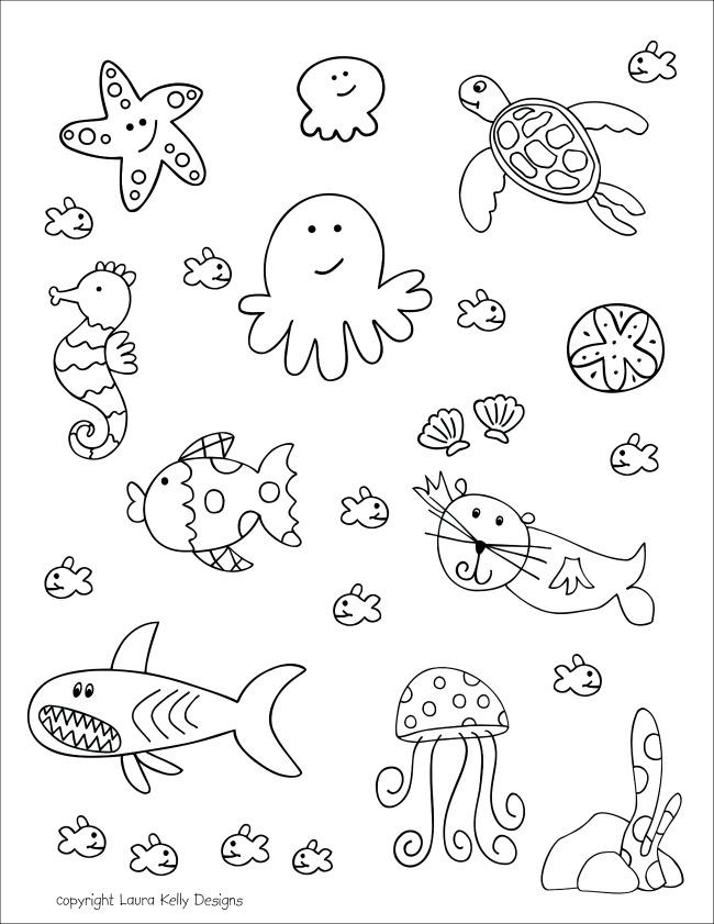 Aquarium Life Coloring
