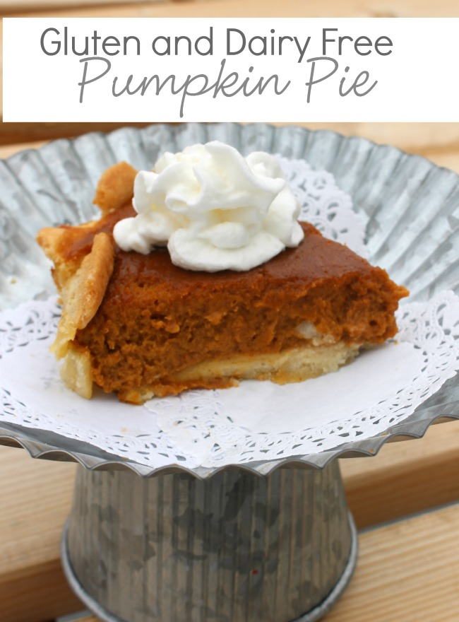 Gluten Free Dairy Free Pumpkin Pie Label