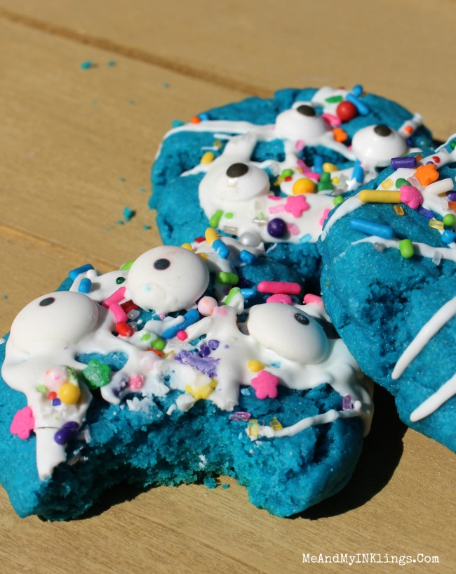 Scary Monster Box Cake Cookies