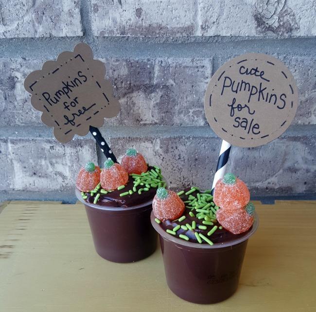 Pumpkin Patch Pudding Cups 2