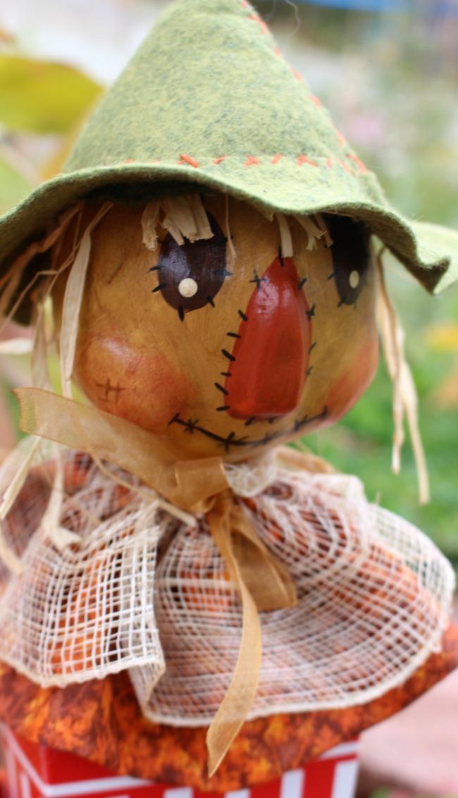 Scarecrow Popcorn Box Head