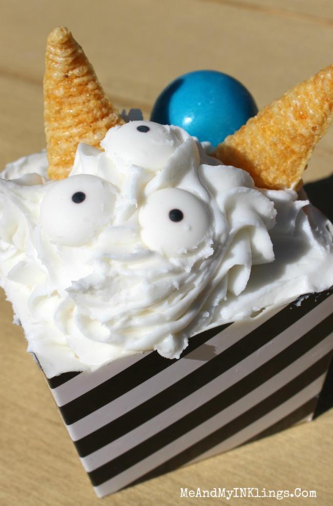 Upside Down Cupcake Monster