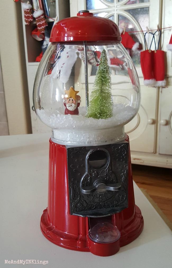 Snow Globe in Gumball Machine