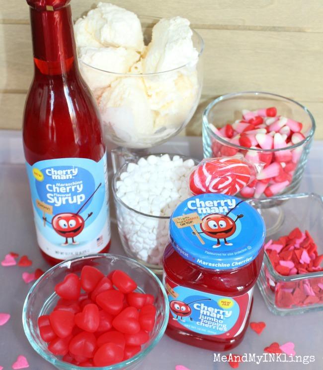 Cherry Man Valentines Shake Ingredients