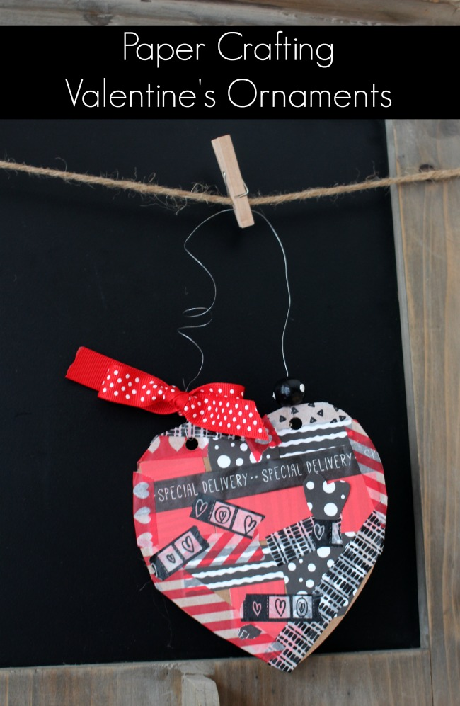 Paper Crafting Valentine Ornaments