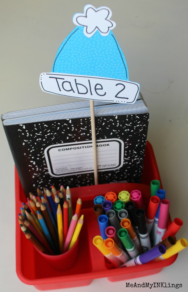 Winter Hat Table Marker