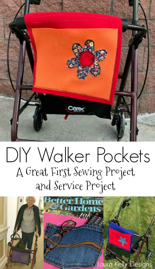 DIY Walker Pockets Service Project Kindness Craft