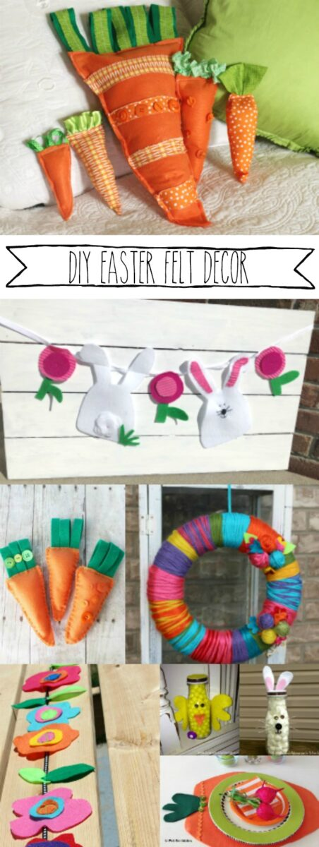 DIY Easter Felt Craft Decorations and Party Ideas