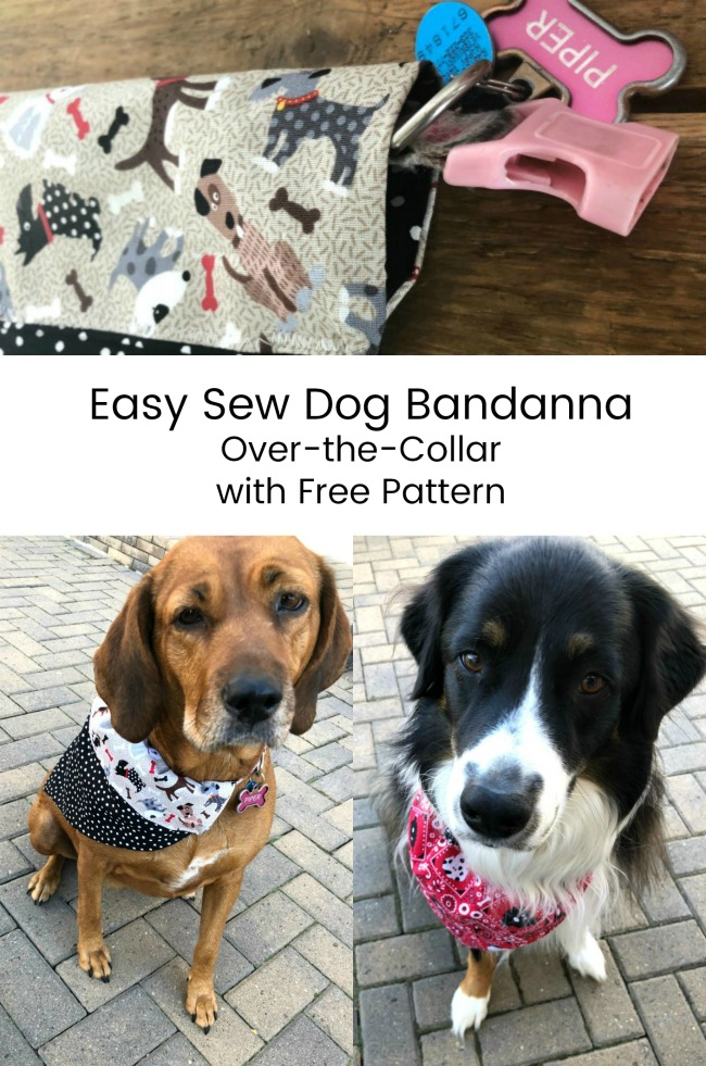 Dog Bandanna Pattern for Over the Collar