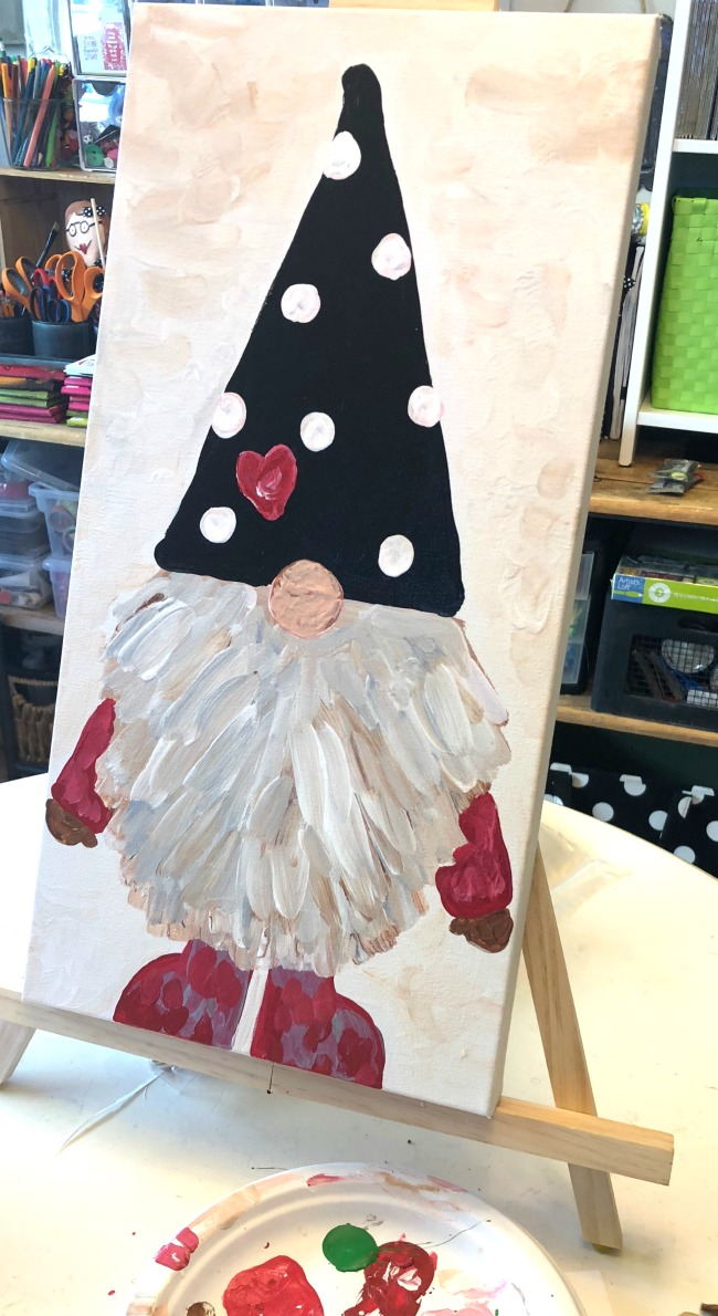 Gnome Painting Acrylic Paints Step by Step