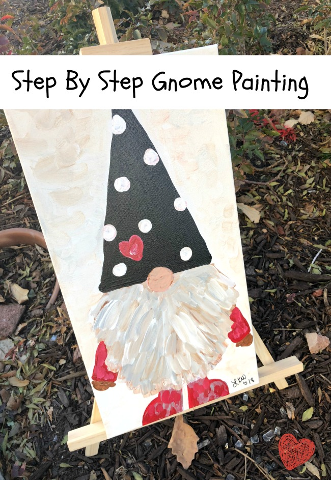 Gnome Painting Acrylics on Canvas Step by Step