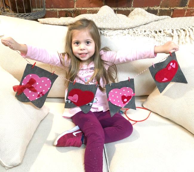 DIY Felt Valentine Garland with Beacon Felt Glue