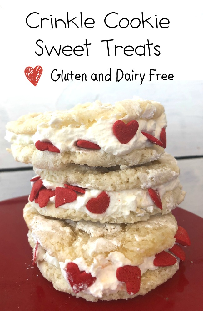 Gluten Free Cake Mix Crinkle Cookies