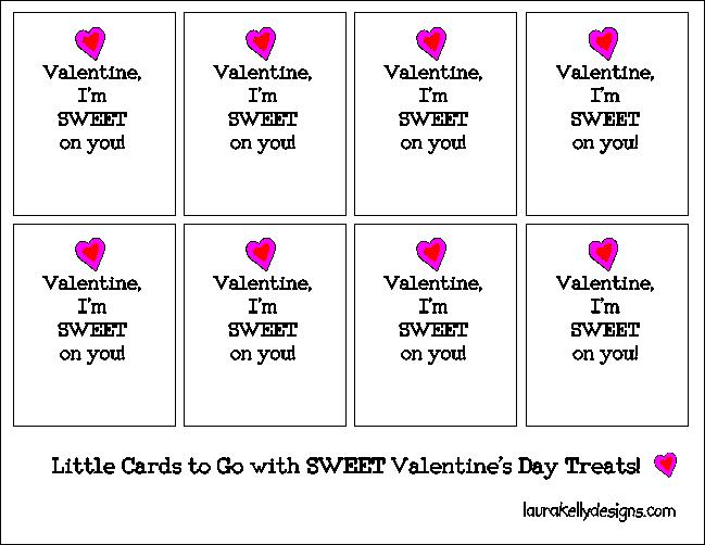 Valentine Printable Cookie Tag