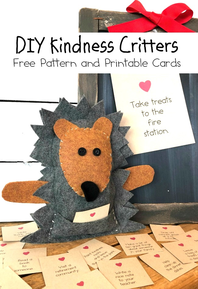 DIY Kindness Critters Patterns and Printable