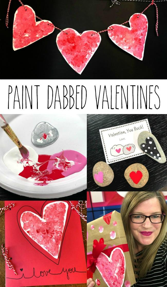 DIY Valentines Paint Dabbed Hearts DecoArt